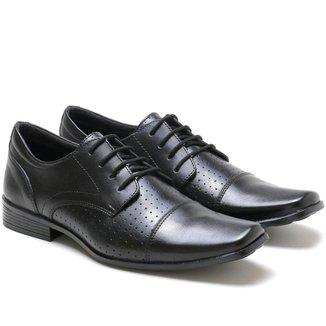 Sapato Social Ded Calçados Couro Cadarço Masculino