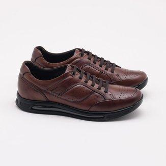 Sapato Social Democrata Air 360 Couro Masculino