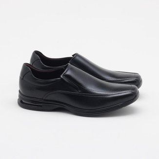 Sapato Social Democrata Air Spot Couro Masculino