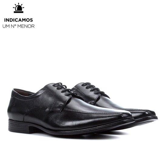 Sapato Social Democrata Prime Masculino - Preto+Marrom