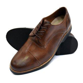 Sapato Social Derbi Click Calcados Couro Preto