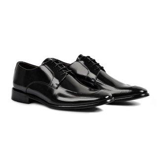 Sapato Social Derby Hoddi Masculino Couro Moderno Conforto