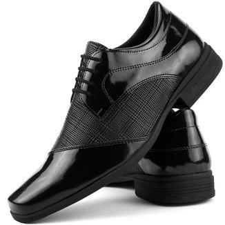 Sapato Social Dhl Perfuros com Cadarço Masculino