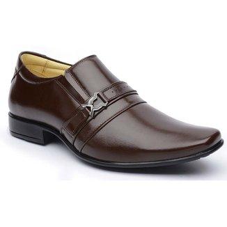 Sapato Social DLutty Bico Quadrado Pele de Carneiro  masculino