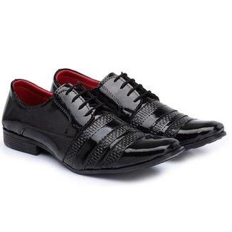 Sapato Social Elegance Verniz Masculino