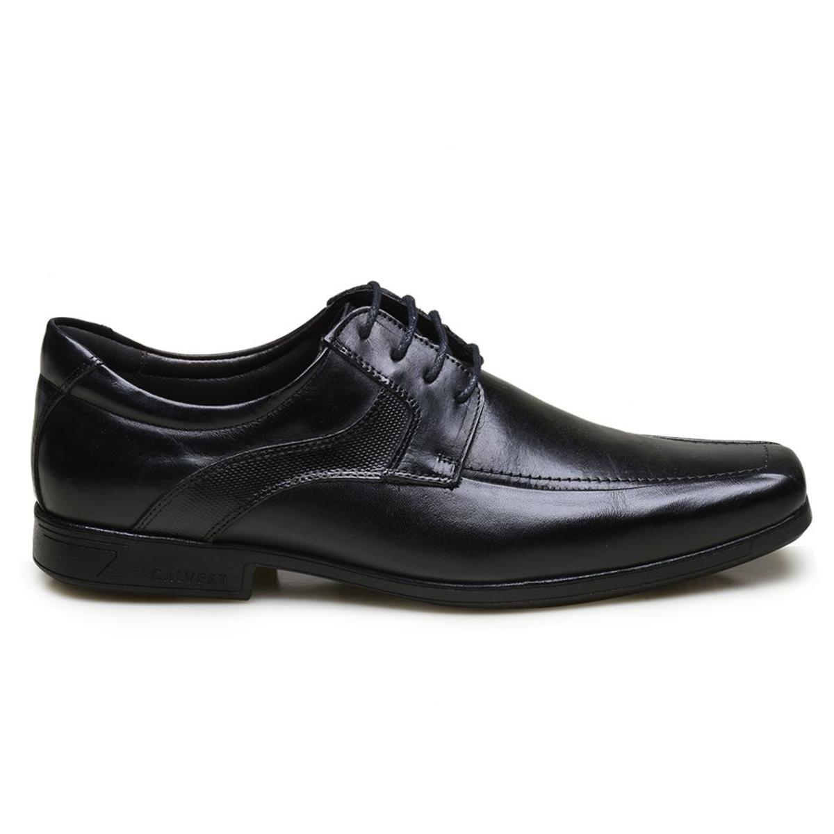 Sapato Sapato em Calvest Social Diplomata Social em Couro Preto Couro rgtwgq