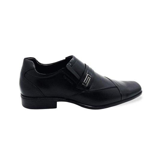 Sapato Social em Couro Vitrine dos Pés Basic Masculino - Preto