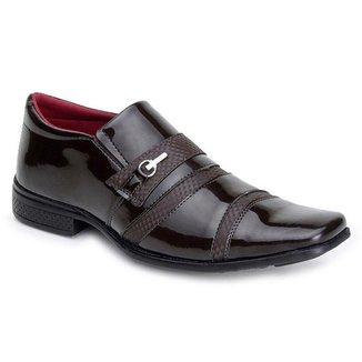 Sapato Social Em Sintetico Snapshoes Masculino