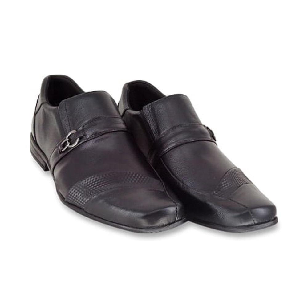 Sapato Natural Fivela Social Preto Enviamix Masculino Social Couro Sapato Detalhe xaq1XwqT
