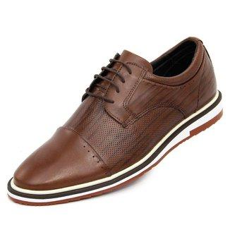 Sapato social esporte fino marrom em couro nobre