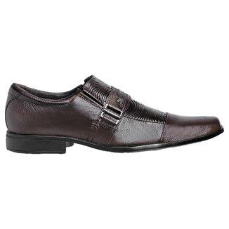 Sapato Social Esporte PisaForte Couro Solado Costurado Masculino