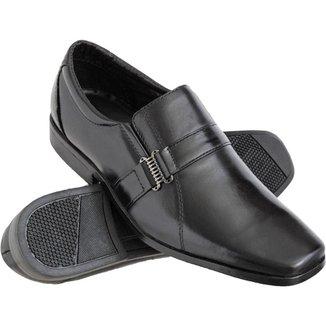 Sapato Social Euro Flex Couro Conforto Macio Leve Resistente Masculino