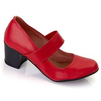 Sapato Social Feminino Scarpin Boneca Confortável Trabalho