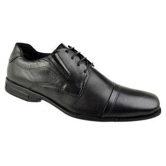 Sapato Social Ferracini Bristol Cadarço Masculino - PRETO 43