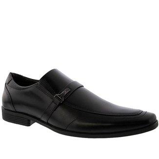 Sapato Social Ferracini Comfort Pespontos Couro Preto