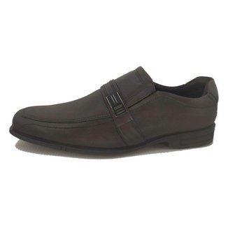 Sapato Social Ferracini Loafer De Couro E Fivela Masculino