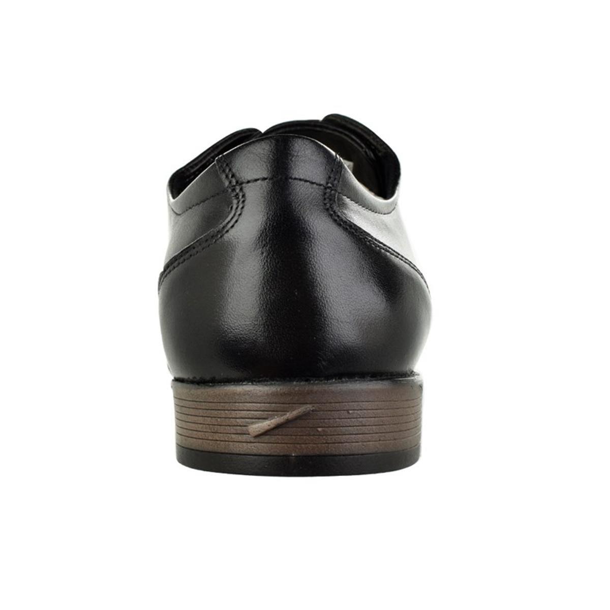 Sapato Social Ferracini Sidney Cadarço Masculino - Preto