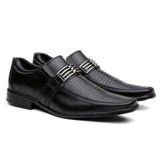 Sapato Social Gerona Fivela Leve Conforto Masculino