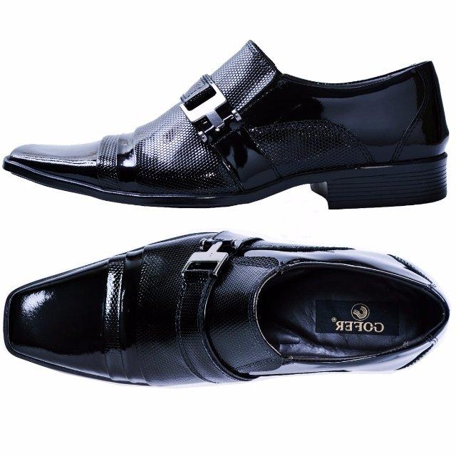 Sapato Em Social Sapato Gofer Preto Estilo Couro Social Italiano YdYrwpxTq