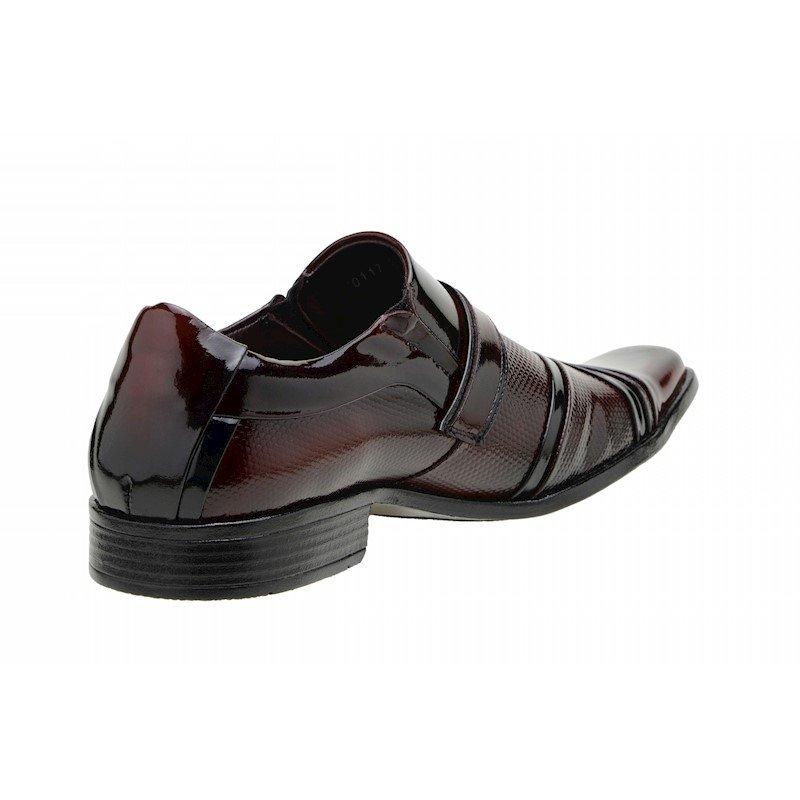 Sapato Gofer Verniz e Preto Vinho Social Social Sapato F6qax7FR