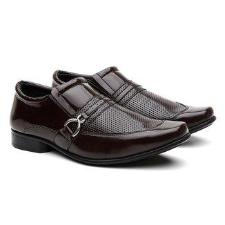 Sapato Social HShoes Bico Quadrado Conforto Macio Masculino