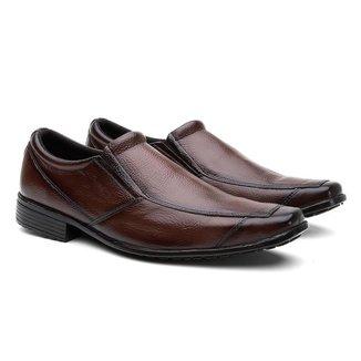 Sapato Social HShoes Couro Liso Conforto Elegante Macio Masculino