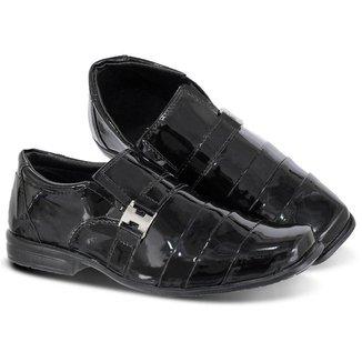 Sapato Social Infantil Masculino Casual Couro