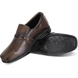 Sapato Social Infantil Masculino Couro