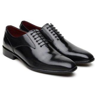 Sapato Social Jacometti Couro Sofisticado Masculino