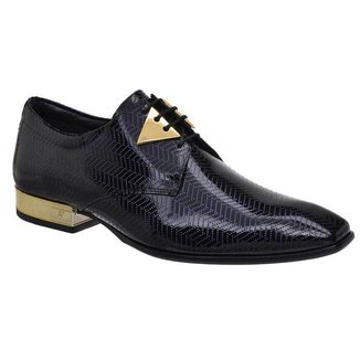 Sapato Social Jota Pe Verniz Blue 74153