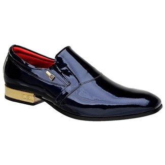 Sapato Social Jota Pe Verniz Purple Blue 70900