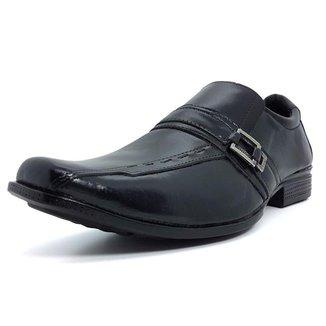 Sapato Social Leoppé Couro Liso Masculino