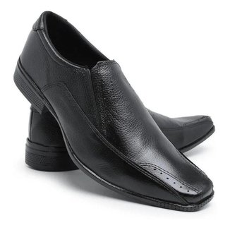 Sapato Social Liso silva&silva Couro Masculino