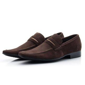 Sapato Social Loafer Camurça Bigioni Masculino