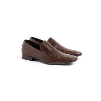 Sapato Social Loafer Masculino Couro Liso Conforto Dia a Dia
