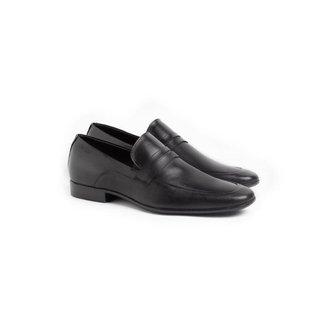 Sapato Social Loafer Masculino Couro Liso Leve Conforto