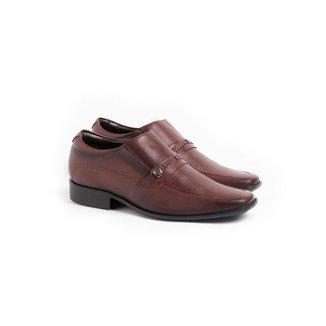 Sapato Social Loafer Masculino Couro Perfuros Macio Conforto
