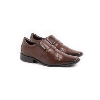 Sapato Social Loafer Masculino Couro Pregas Leve Conforto