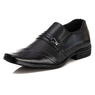 Sapato Social Luxx Shoes Liso Bico Quadrado Masculino