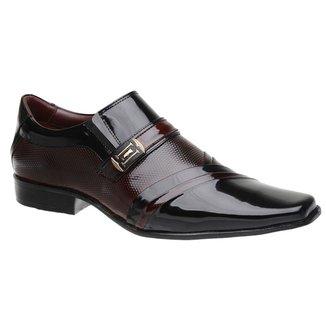 Sapato Social Malbork em Couro Verniz Dark