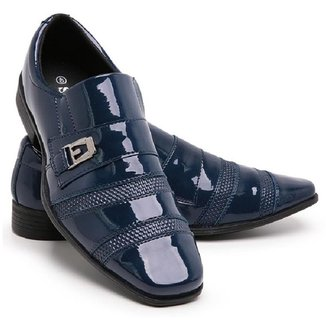Sapato Social Masculino 803 Elástico Verniz Macio Conforto