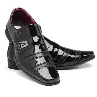 Sapato Social Masculino 803 Em Verniz Elegante Bico Quadrado