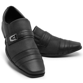 Sapato Social Masculino 833 Elástico Liso Metal Conforto