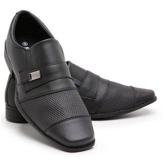 Sapato Social Masculino 834 Elástico Verniz Leve Moderno