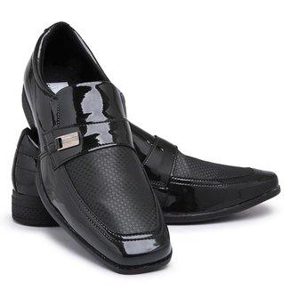 Sapato Social Masculino 910 Verniz Elástico Macio Conforto