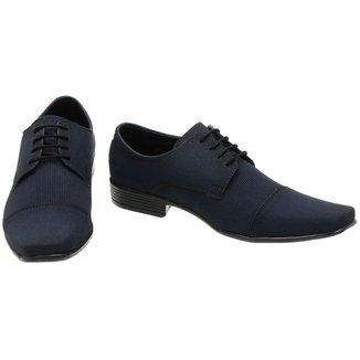 Sapato Social Masculino Azul Marinho Barato Lucilena Calcados