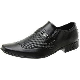 Sapato Social Masculino Bico Fino Fivela Lateral