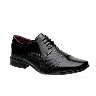 Sapato Social Masculino Bico Quadrado 801 Cadarço