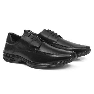 Sapato Social Masculino Bico Quadrado Clássico Casual
