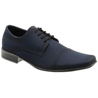 Sapato Social Masculino Bico Quadrado Conforto Dia a Dia